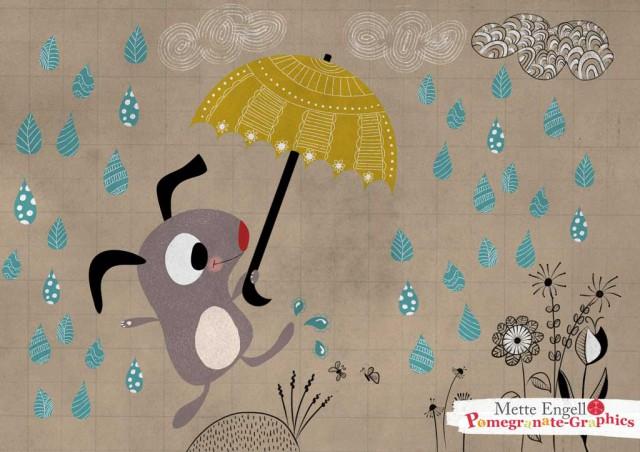 MetteEngell_Raining_dogs